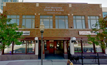 Image of the front of the Pitt, McGehee, Palmer, and Rivers office building